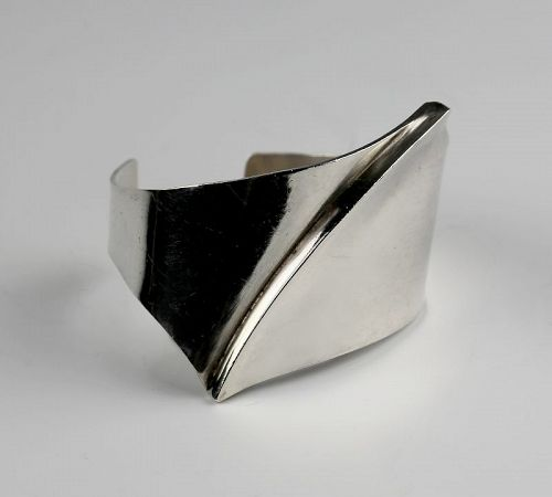 Bill Tendler Modernist Sterling Cuff Bracelet - 1950s