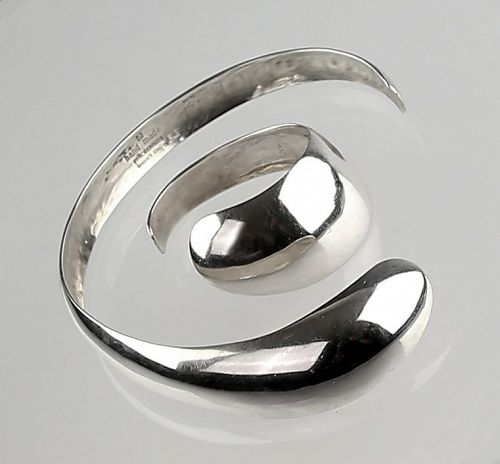 Erik Dennung Modernist Sterling Necklace and Bracelet Denmark