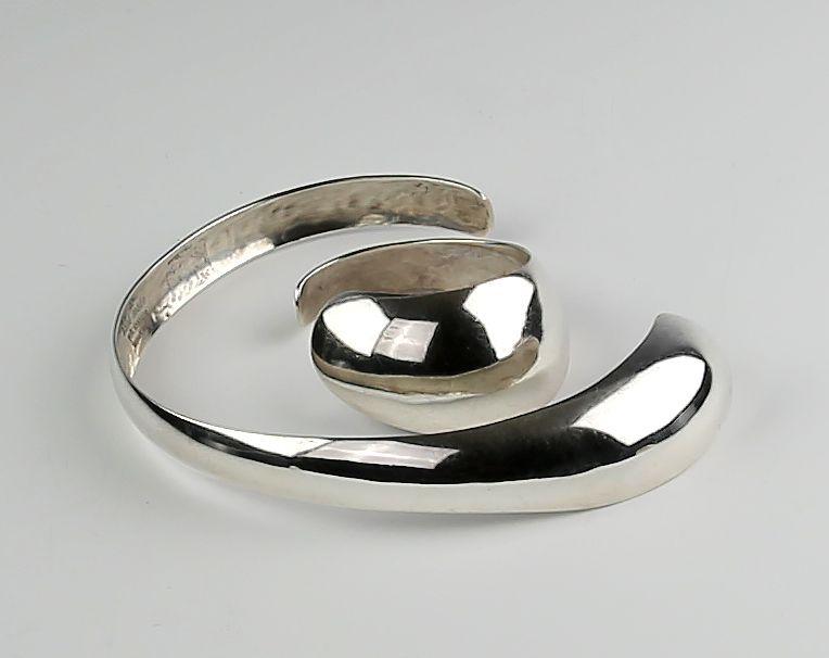Erik Dennung Modernist Sterling Necklace and Bracelet Denmark