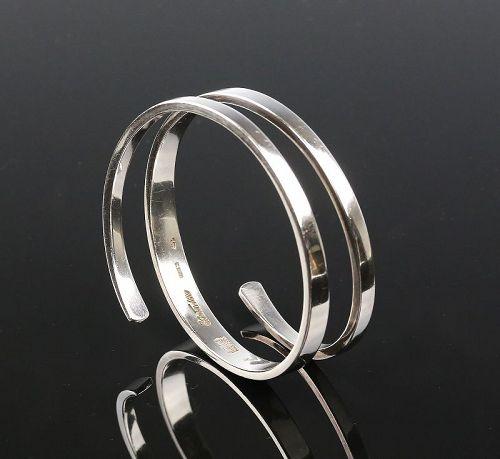 Carl Antonsen Modernist Sterling Coil Bracelet Denmark