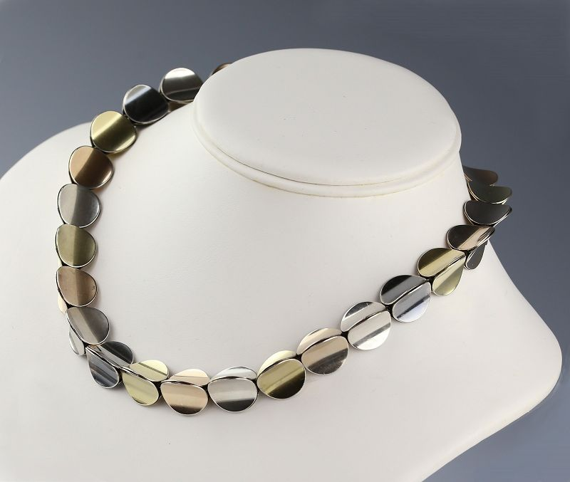 Eigil Jensen for Anton Michelsen Sterling Modernist Necklace Denmark