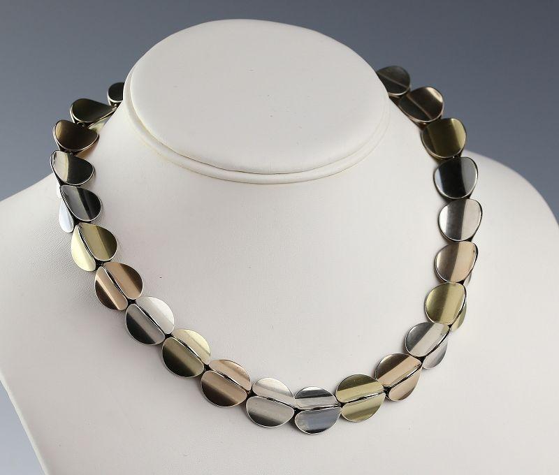 Eigil Jensen for Anton Michelsen Sterling Modernist Necklace Denmark
