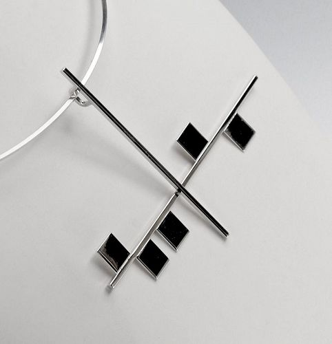 Betty Cooke Modernist Sterling Necklace