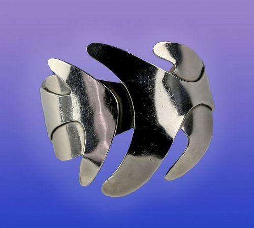 Henry Steig Modernist Sterling Bracelet 1950