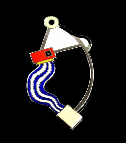 Marco Zanini Acme Studios Enamel Brooch 1980 Memphis Designer