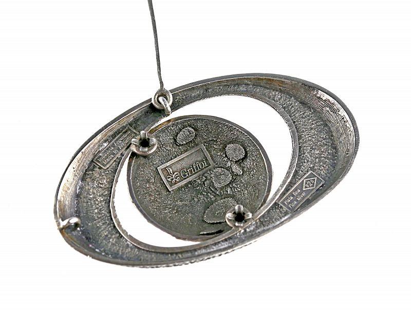 Industria Argentina Modernist Sterling and Enamel Necklace
