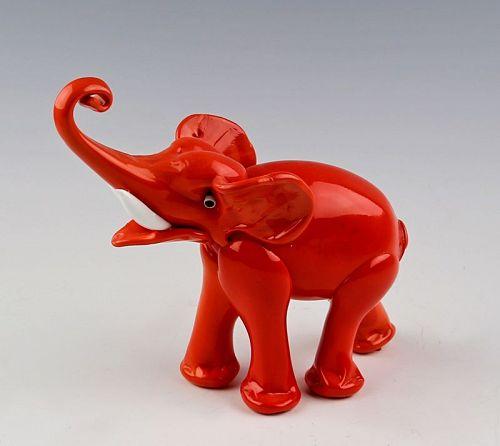 Rare Lattimo Murano Glass Elephant 1920s/30s Barovier
