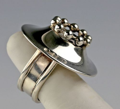 Owe Johansson Modernist Sterling RIng Finland
