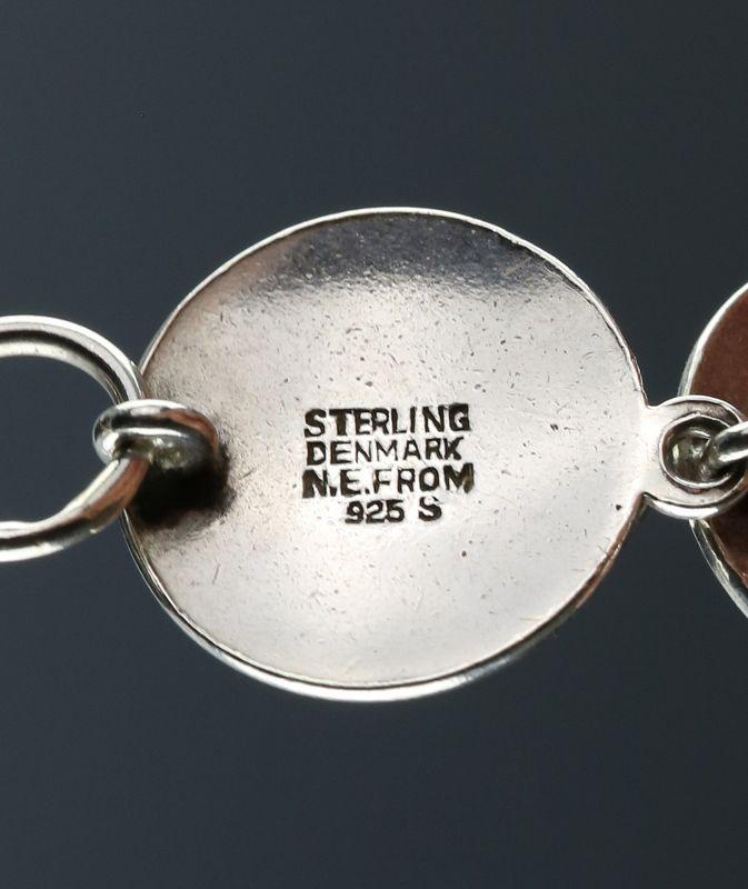 N.E. From Modernist Sterling Bracelet Denmark Mid 20th Century