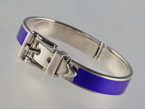 Antonio Fallaci Modernist Sterling / Enamel Bracelet Italy