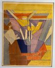 Jacques Villon Modernist Cubist Mid 20th Century Signed Litho France