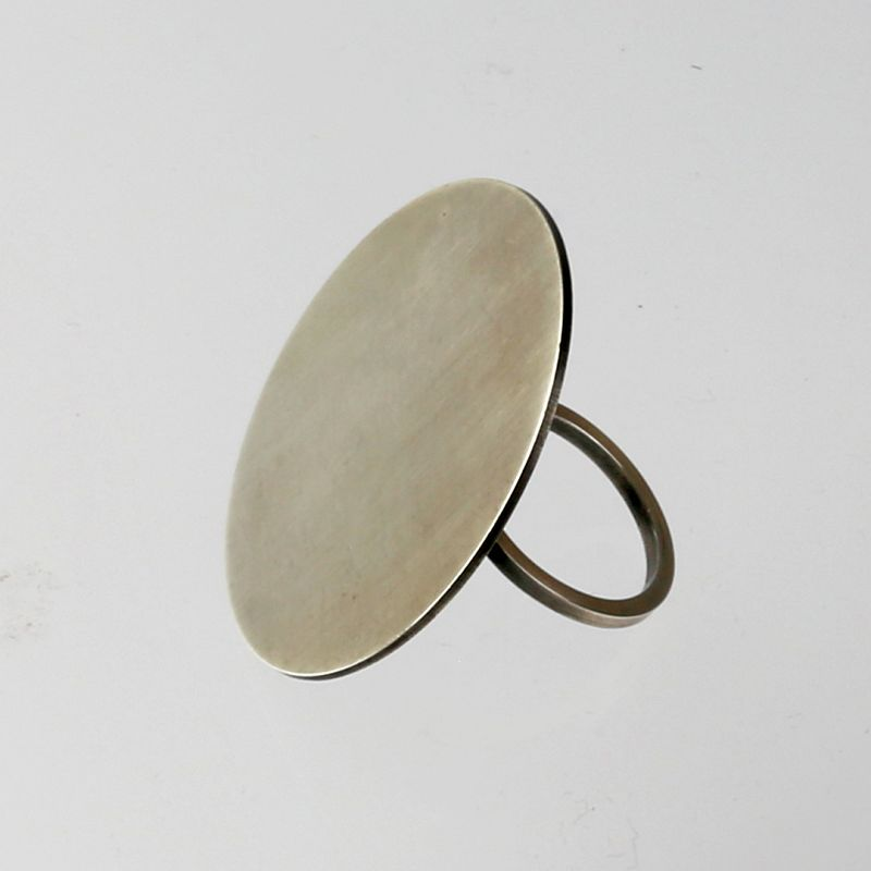 Betty Cooke Modernist Sterling Ring - Mid 20th Century