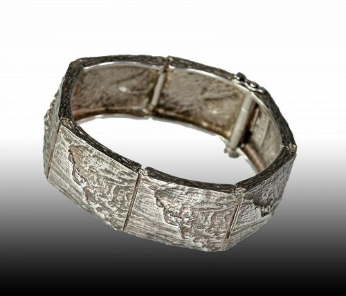 Knud V Andersen Michelsen Sterling Modernist Bracelet Denmark