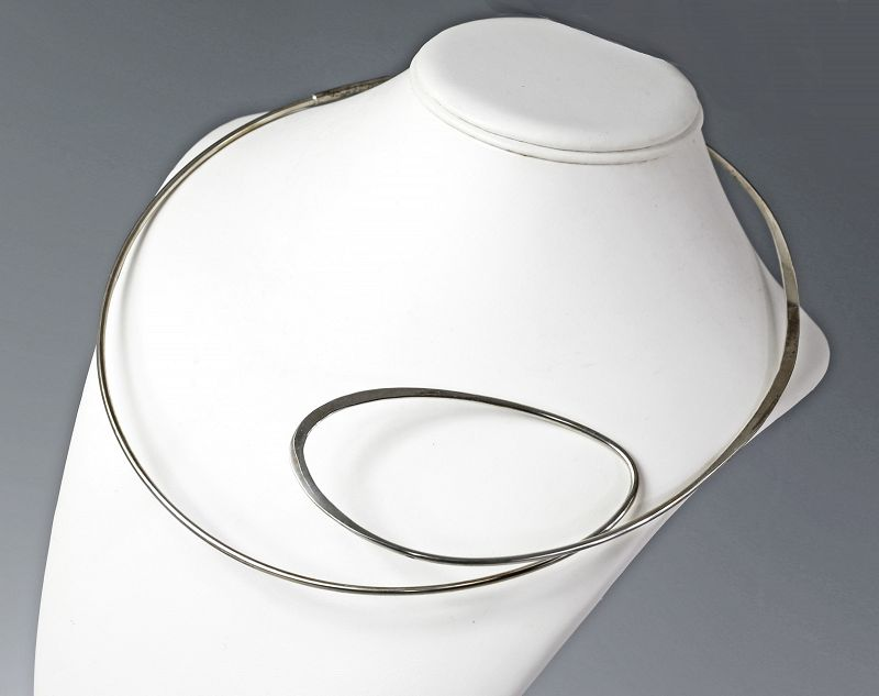 Betty Cooke Sterling Loop Necklace