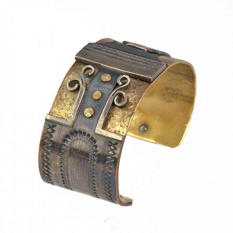 Moore Streb Modernist Bronze Cuff Bracelet 1970