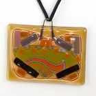 Michael and Frances Higgins Art Glass Pendant� Mid 20th century
