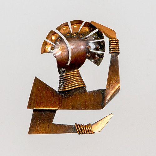 Rebajes Modernist Josephine Baker Brooch 1940 - 50