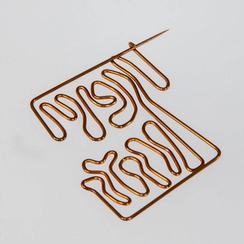 Val Bertoia Post Modernist Bronze Wire Brooch