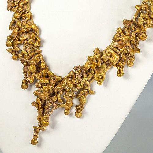 Pal Kepenyes Modernist Brutalist Necklace