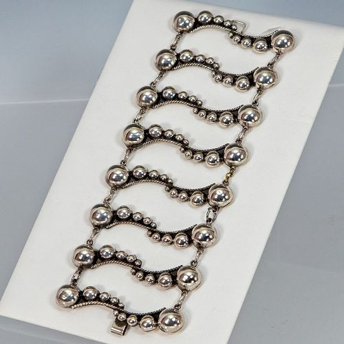 Mexican Sterling Bracelet Mid 20th Century 1950s
