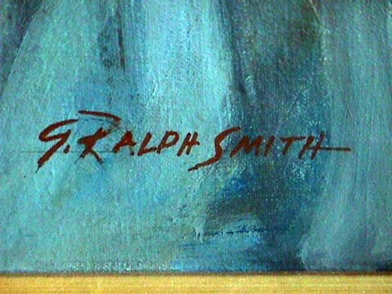 G. Ralph Smith - WPA Deco Portrait - PAFA