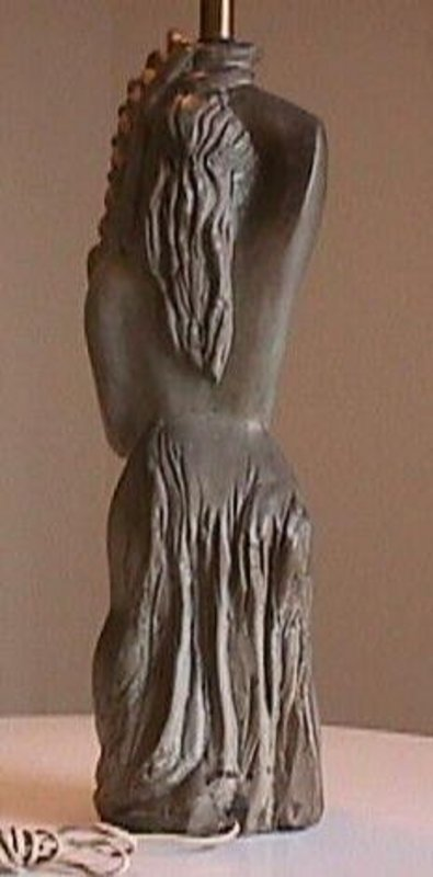 Marianna Von Allesch Deco Lady Figural Lamp