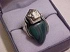 Rebajes Modernist Sterling Ring w/ Stones