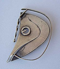 Paul Lobel Modernist Figural Horse Sterling Brooch