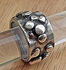 Modernist Sterling Ring - Jim Hayes -  Aspen, Colorado