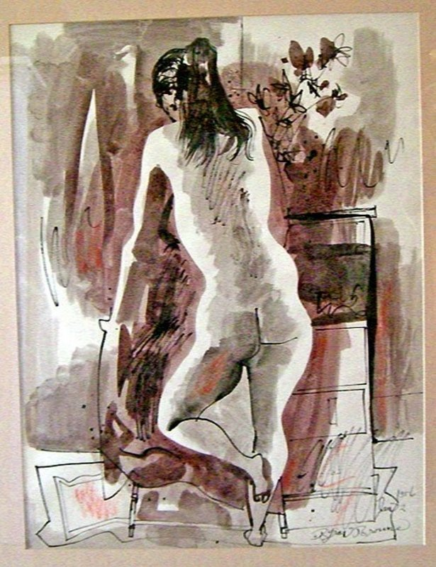 Byron Browne - Modernist Abstract Nude