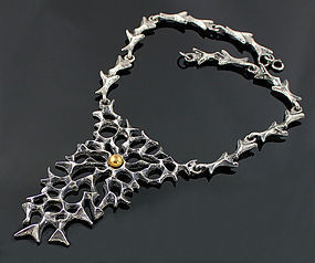 Robert Larin Sculptural Pewter Necklace - Canada