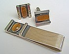 Jules Brenner Modernist Jewelry Tie Bar/Cuff Links