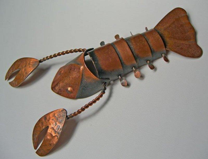 Rebajes Modernist Handcrafted Lobster Brooch