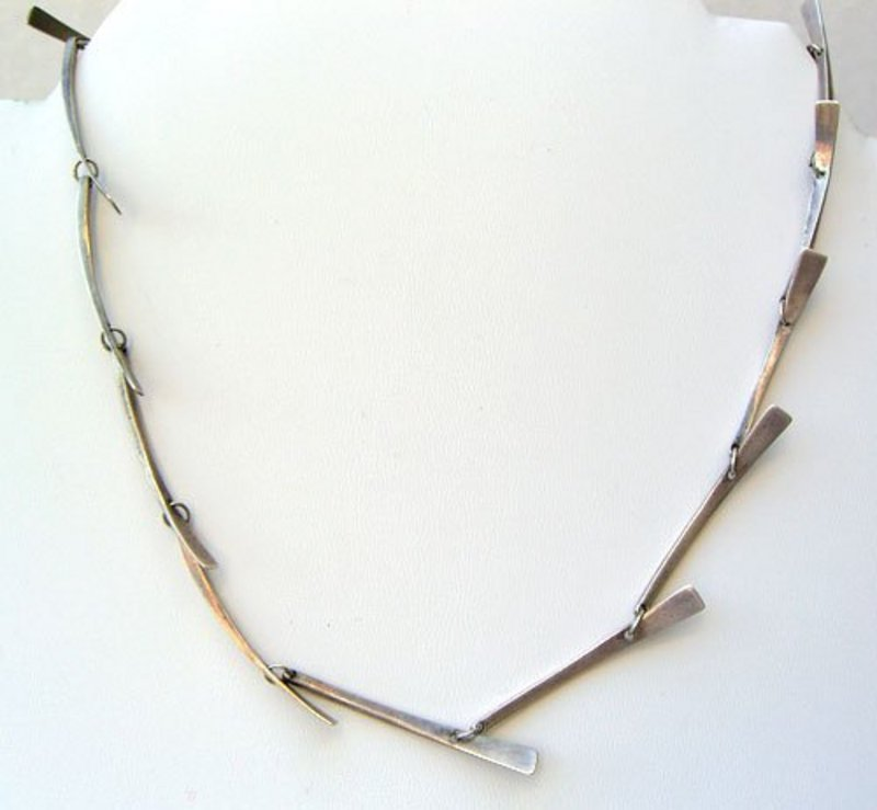 Merry Renk Modernist Sterling Silver Necklace