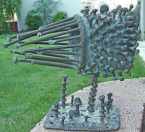 Klaus Ihlenfeld Modernist Organic Bronze Sculpture # 2