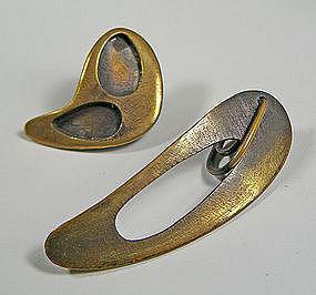 "Art Smith Modernist ""PATINA"" Earrings"