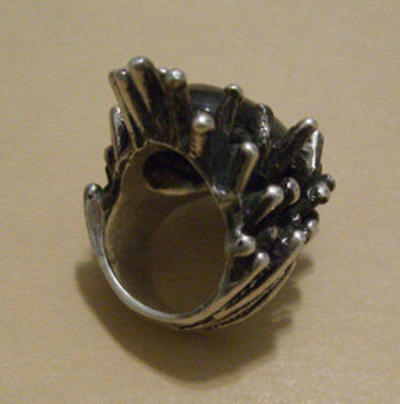 Vintage Joe Dean Modernist Sterling Ring w/Stone