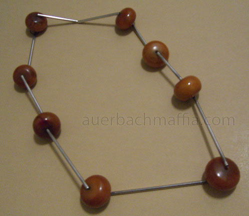 Betty Cooke Modernist Sterling & Amber Necklace