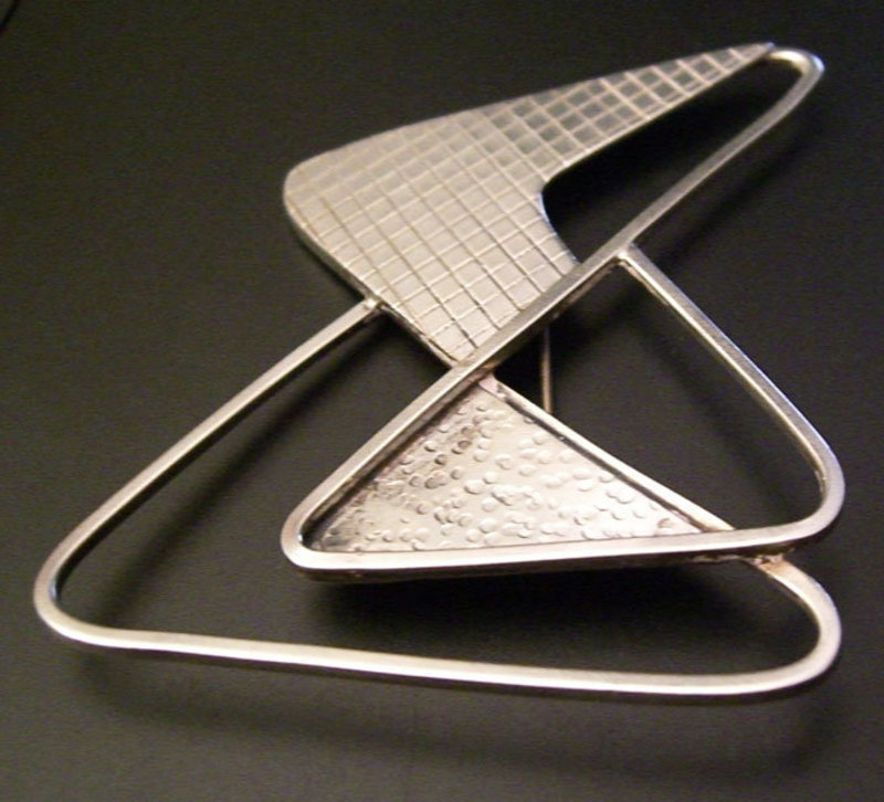 Frank Miraglia Modernist Sterling Geometric Brooch