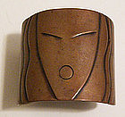 Rebajes Modernist Copper Deco Lady Face Cuff