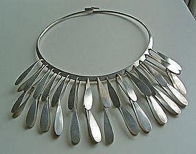 Elsa Freund Modernist Sterling Kinetic Necklace