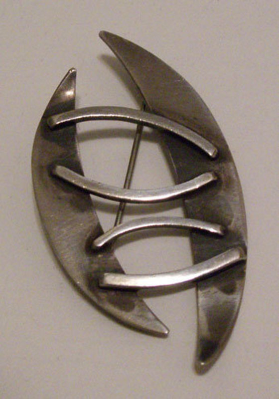 Bill Tendler American Modernist Sterling Geometric Pin
