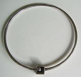 Bent K Scandinavian Modernist Silver Jewelry Necklace