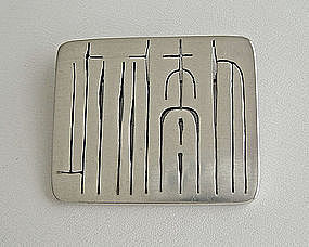 Frances Holmes Boothby Modernist Jewelry Brooch