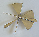 Art Smith Modernist Sterling Silver Constructive Brooch