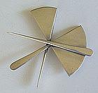 Art Smith Modernist Sterling Silver Constructive Brooch