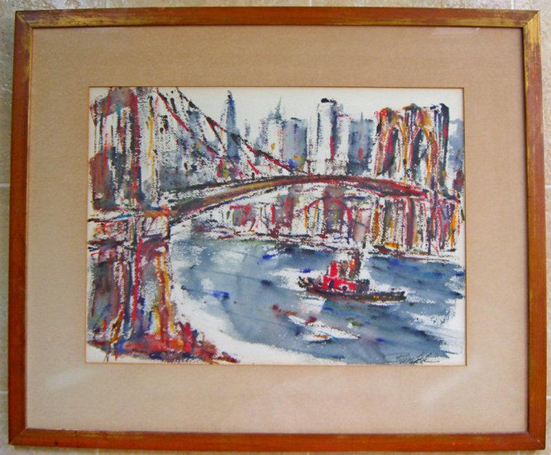 David Burliuk NYC Cityscape WPA Modernist