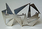 Ed Levin American Modernist Jewelry Sterling Brooch