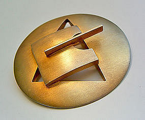 Tony Papp Post Modernist Sterling Brooch