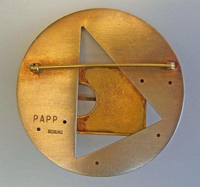 Tony Papp Post Modernist Sterling Brooch